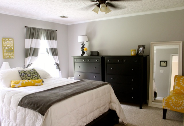 gray and yellow master bedroom ideas master bedroom reveal gray yellow and white bliss 20530